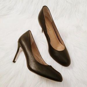 Corso Como Black Leather Comfort Heels